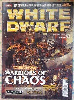 White Dwarf 347 November 2008 Warhammer Warriors Of Chaos, 40k LOTR Strategy GW