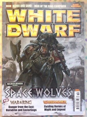 White Dwarf 358 October 2009 Warhammer, 40k Space Wolves, LOTR Battle GW