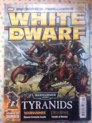 White Dwarf 361 January 2010 Warhammer 40k Tyranids, LOTR Strategy Battle GW