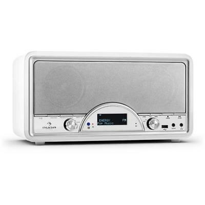 Auna Virginia White Fm Dab / Dab+ Digital Radio  Lcd Display Usb Aux Mp3 Input