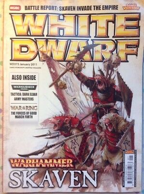 White Dwarf 373 January 2011 Warhammer Shaven, 40k, War Of The Ring, GW