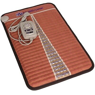 MediCrystal FIR Amethyst Mat - Negative Ion Infrared Heating Pad - Mini 20x32