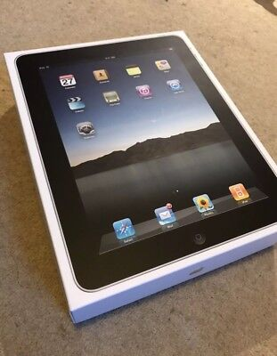 IPad 1st Generation 32gb 9,7in. Black-Silver Whit Apple Case Cover