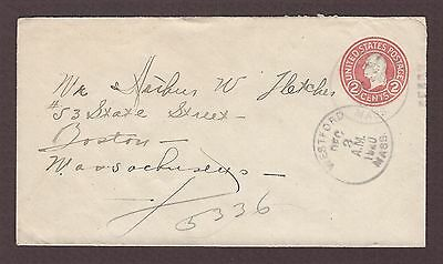 mjstampshobby 1920 US J E Clements Westford Mass Vintage Cover Used (Lot4805)