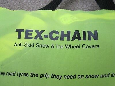 """Car Tyre Snow Socks - New - Unused - For 18"""" Wheels 215 to 265 wide"""