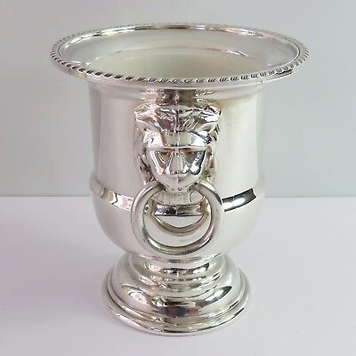 Vintage Viners Silverplate Toothpick Holder, Miniature Champagne/Wine Ice Bucket