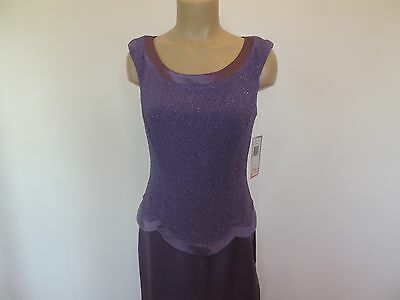 patra size 8 violet purple sleeveless glitter top long dress new with tags $140.