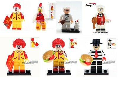 Custom minifigure - Red Chicken Suit Guy Kentucky KFC Ronald McDonald Choose ONE