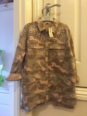 A Trendy Camouflage Print Shirt From River Island Age 11-12 Years BNWT