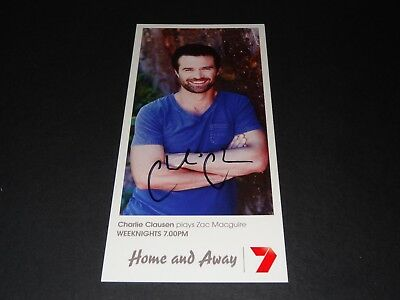 Home & Away Fan Card Fancard Zac Macguire And Hand Signed By Charlie Clausen