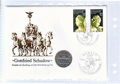 DDR Numisbrief 1987 Schadow 5 Mark Brandenburger Tor 1987 Folieverpackung