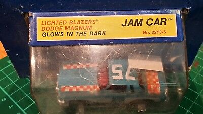 2 x Ideal TCR Lighted Blazers Jam cars. Boxed rare. Glow in the dark!