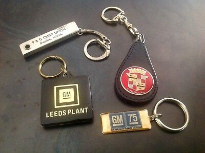 1972 73 74 75 76 77 78 79 80 GM General Motors Cadillac Key Chains Mixed Lot