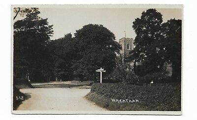Wrentham, Suffolk, Vintage Real Photo Postcard Posted 1918   583B