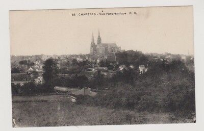 CP chartres vue panoramique cathedrales rr