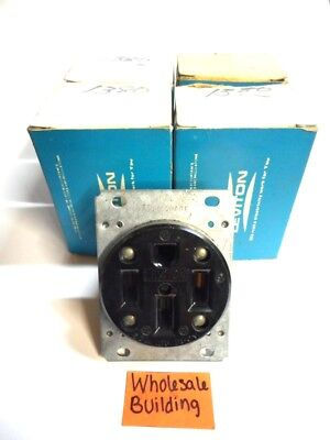 Leviton, Flush Mount Receptacle, 071-279, 50A, 125/250V, 3P, 4W, Lot Of 5