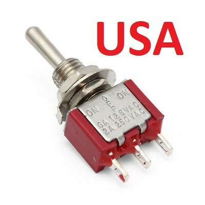 Mini Metal Red ON/ OFF Small Toggle Switch SPDT *USA*