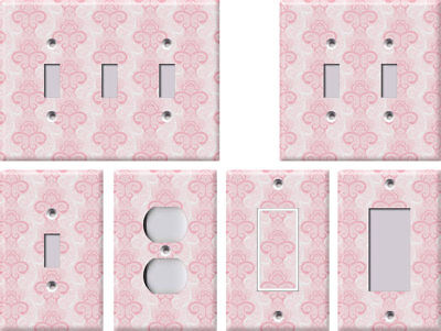 Pink Henna Brocade Damask - Light Switch Covers Home Decor Outlet