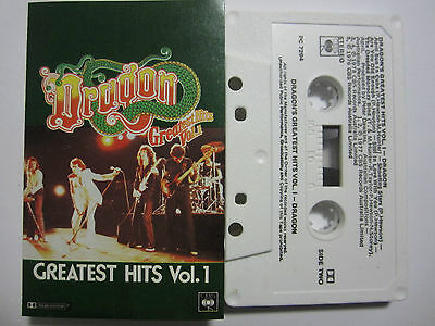 Dragon Greatest Hits Vol 1 Rare Australian Cassette Tape Nm
