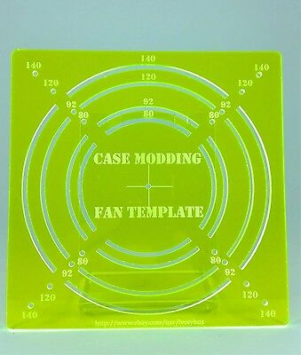 fan hole template guide for computer case modding 120mm 140mm 92mm