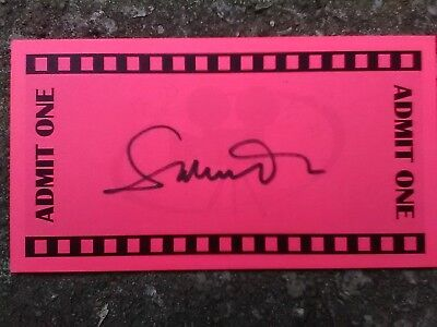 Director of Skyfall, Spectre, American Beauty on ticket card / 007 James Bond