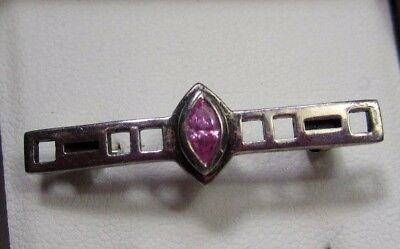 Kit Heath Sterling Silver 925 Brooch with Marquise Cut CZ in the Original Box
