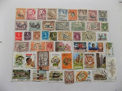 African  Collection of stamps off paper Defin.&  Commem..-10-17