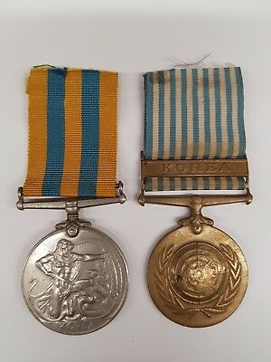 Genuine Korean War Medal and United Nations / UN Korea Medal. ORD. Royal Navy.