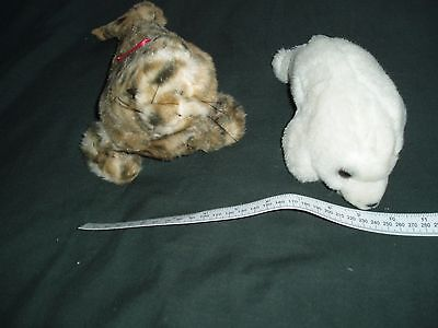 2 Small Soft Toys - Seals