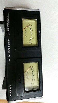 Vintage Realistic Audio Power Meter APM-100