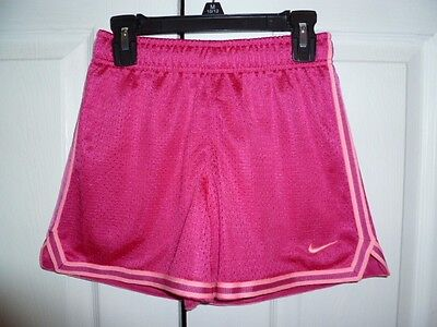 NIKE Girls Pink Dry-Fit Athletic Shorts Size Small