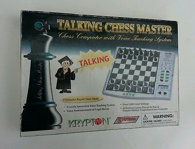 Electronic Chess Talking Chess Master Krypton Systema Teaching System
