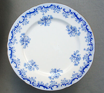 "Shelley 'heavenly Blue' 7"" Tea Plate, Ripon Shape"