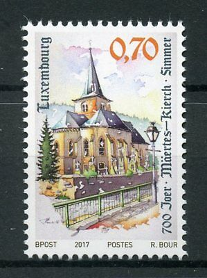 Luxembourg 2017 MNH Simmer Church 700 Yrs 1v Set Churches Tourism Stamps