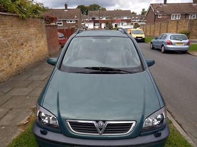 Vauxhall zafira 7 seater, air conditioning, cream leather interior, 2003,