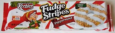 NEW Keebler Fudge Stripes Cookies Peppermint Flavor FREE WORLDWIDE SHIPPING