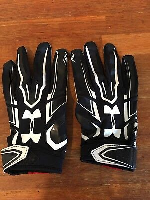 Under Armour F5 Football Receiver Gloves XL Black Great Condition