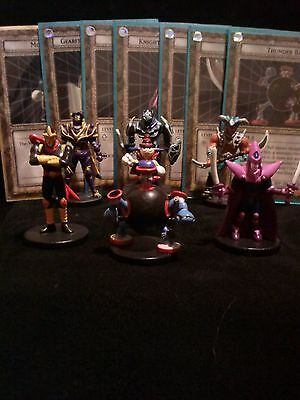 YUGIOH Dungeon Dice Monsters DDM - 7 Piece SPARE STARTER SET figures & cards lot