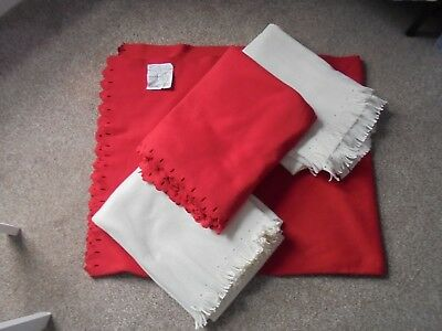 4 x IKEA POLARVIDE Soft Fleece Throw or Bed, Blanket 130cm x 170cm Winter Cold