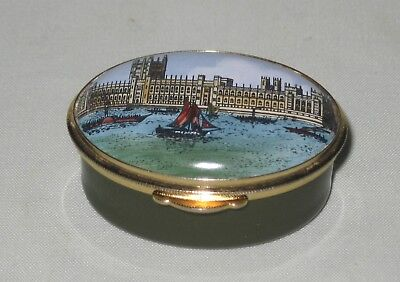 Staffordshire Enamels 'New Houses of Parliament' Enamel Box ~ Hand Painted