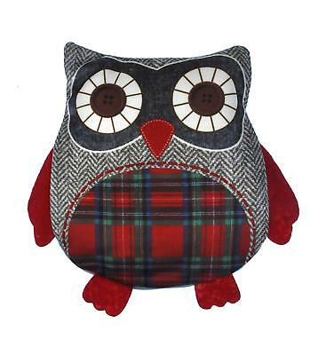 Heated Owl Cherry Pit Pillow - Random Tartan or Floral - Microwavable Warmer
