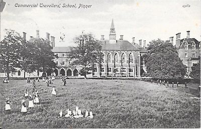 Old Postcard Of The Commercial Travellers School, Pinner