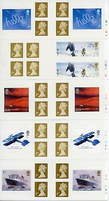GB 2003-04 Selection of 5 Retail Booklets all with Cylinder Numbers FV £19.50