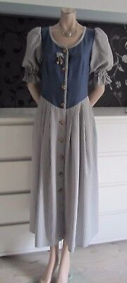 German Bavarian Blue Landhaus/Trachten Dirndl Dress 6