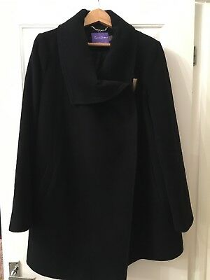 Seraphine maternity black wool and Cashmere coat size 14