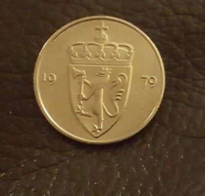 Norway 50 ore 1979 BEAUTIFUL condition coin