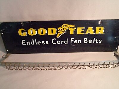 Vintage Goodyear Endless Cord Fan Belt Metal Display