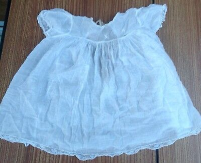 Antique Vintage Baby Gown (Treasure Cot London) Delicate White Cotton