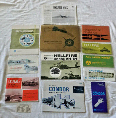 North American Rockwell Missile Systems  Aircraft Operations Marketing Brochures