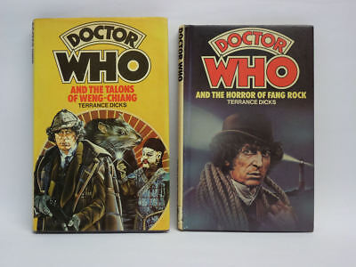 Doctor Who Hardback Books Talons Of Weng-Chiang & Horror Of Fang Rock Ex Lib